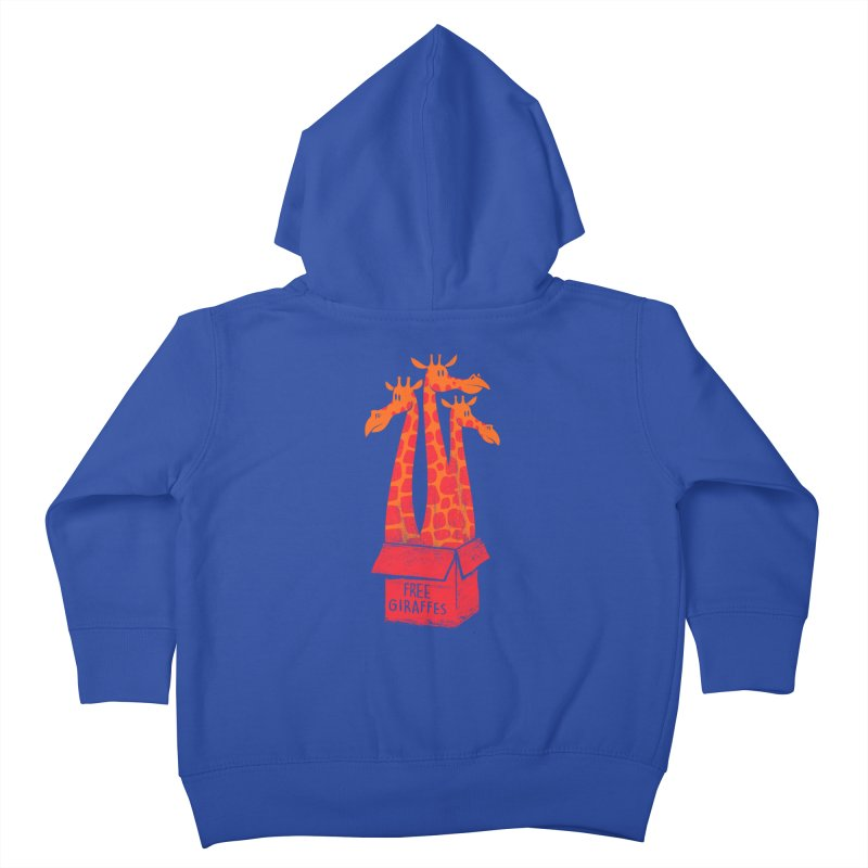 Free Giraffes Kids Toddler Zip-Up Hoody by firehat45's Artist Shop