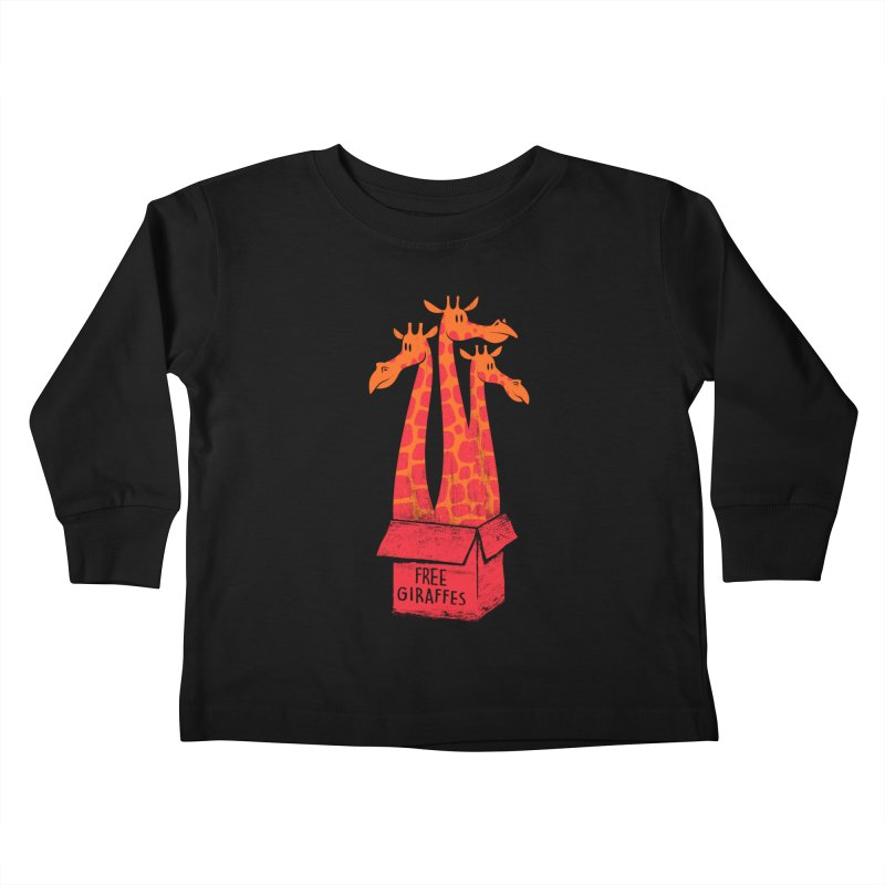 Free Giraffes Kids Toddler Longsleeve T-Shirt by firehat45's Artist Shop