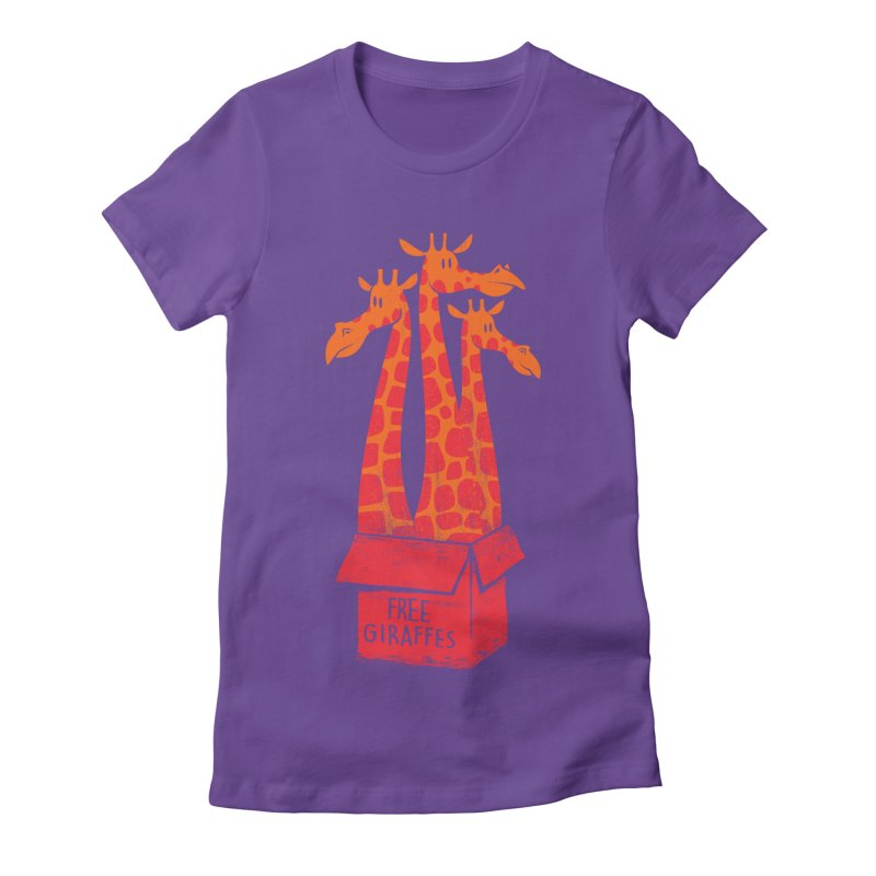 Free Giraffes Women's Fitted T-Shirt by firehat45's Artist Shop