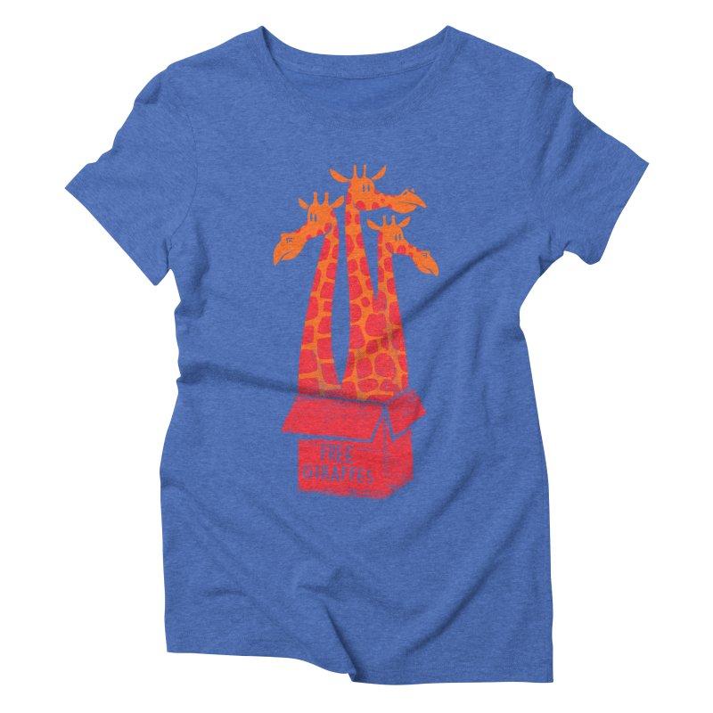 Free Giraffes Women's Triblend T-shirt by firehat45's Artist Shop