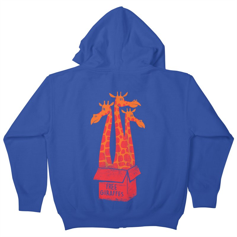 Free Giraffes Kids Zip-Up Hoody by firehat45's Artist Shop