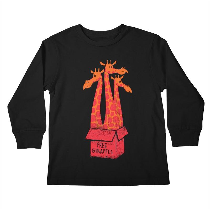 Free Giraffes Kids Longsleeve T-Shirt by firehat45's Artist Shop