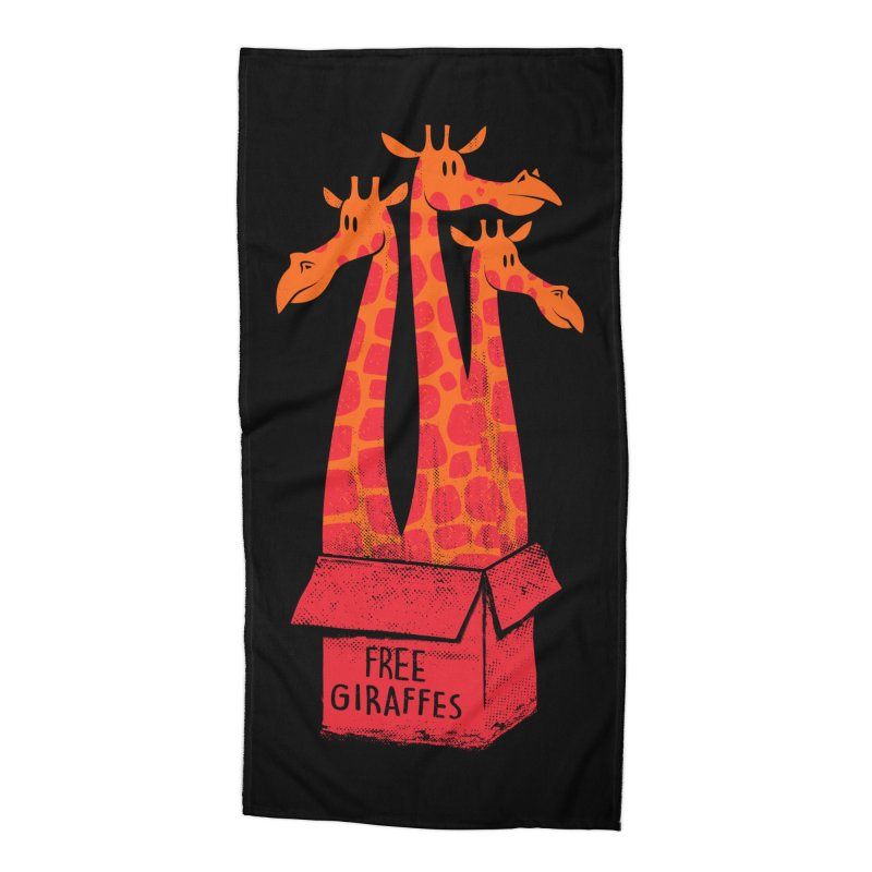 Free Giraffes Accessories Beach Towel by firehat45's Artist Shop