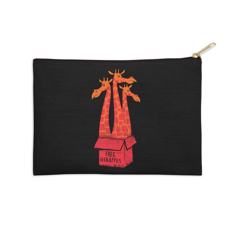 Free Giraffes Accessories Zip Pouch by firehat45's Artist Shop