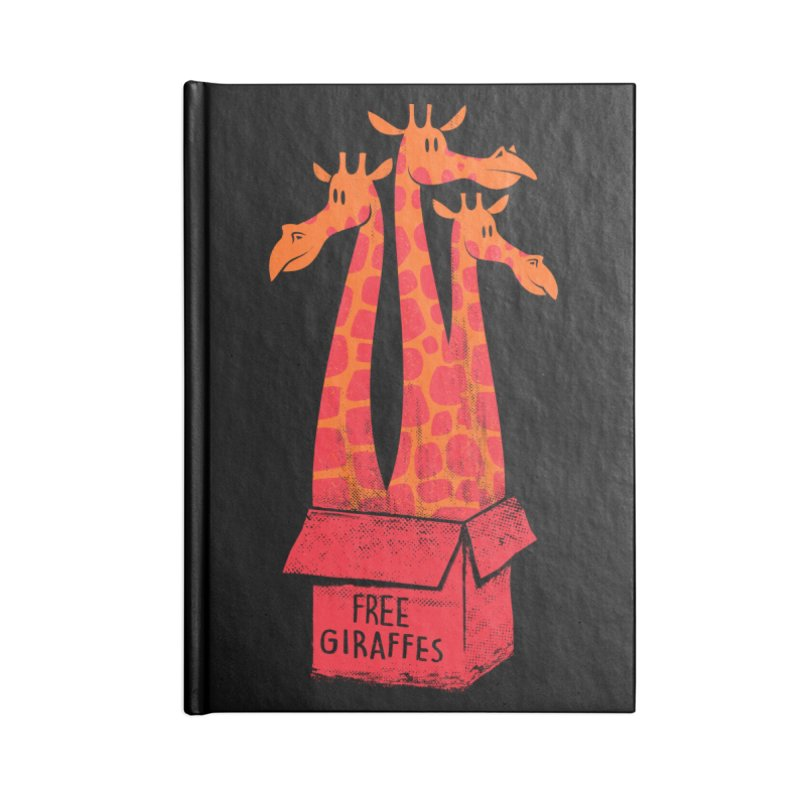 Free Giraffes Accessories Notebook by firehat45's Artist Shop