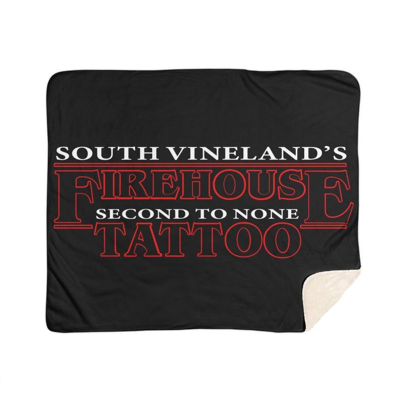 Stranger SVFT Things Blanket Home Sherpa Blanket Blanket by South Vineland's Firehouse Tattoo