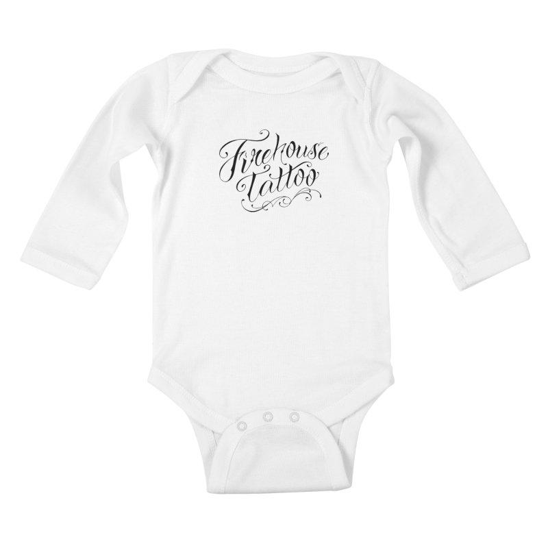SVFT Script logo merchandise Kids Baby Longsleeve Bodysuit by South Vineland's Firehouse Tattoo