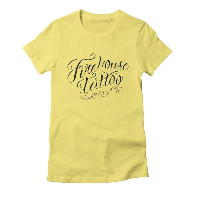 SVFT Script logo merchandise Women's T-Shirt by South Vineland's Firehouse Tattoo
