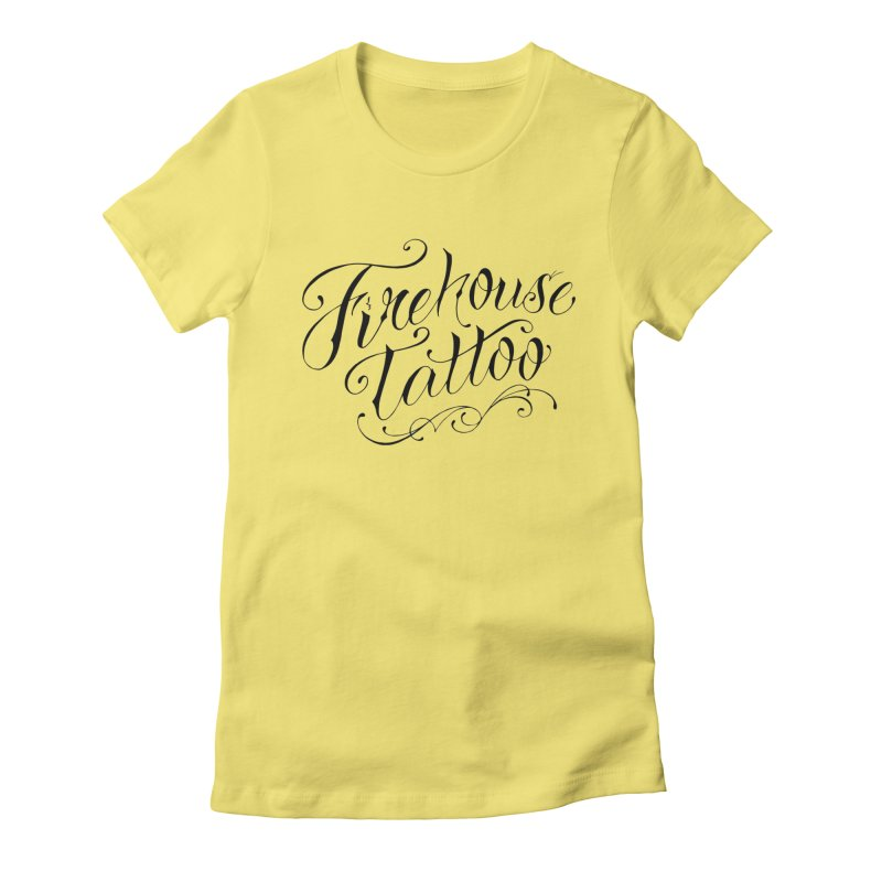 SVFT Script logo merchandise Women's Fitted T-Shirt by South Vineland's Firehouse Tattoo