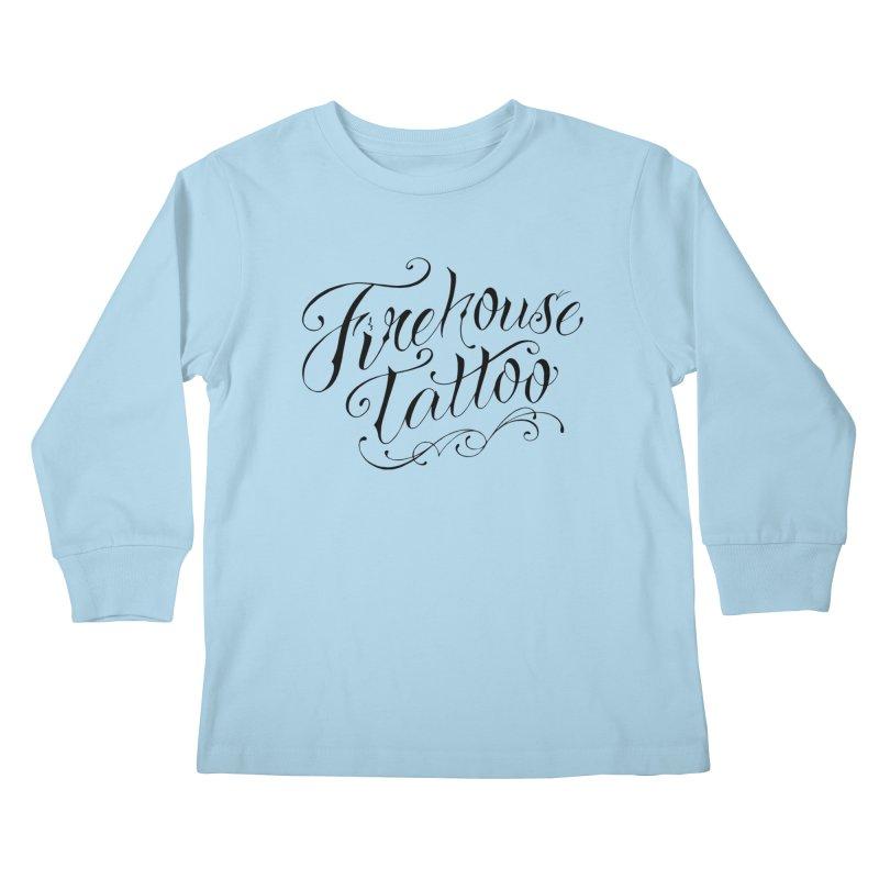 SVFT Script logo merchandise Kids Longsleeve T-Shirt by South Vineland's Firehouse Tattoo