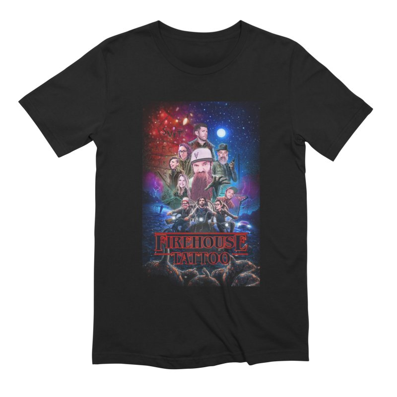 Strangers at the Firehouse Men's Extra Soft T-Shirt by South Vineland's Firehouse Tattoo