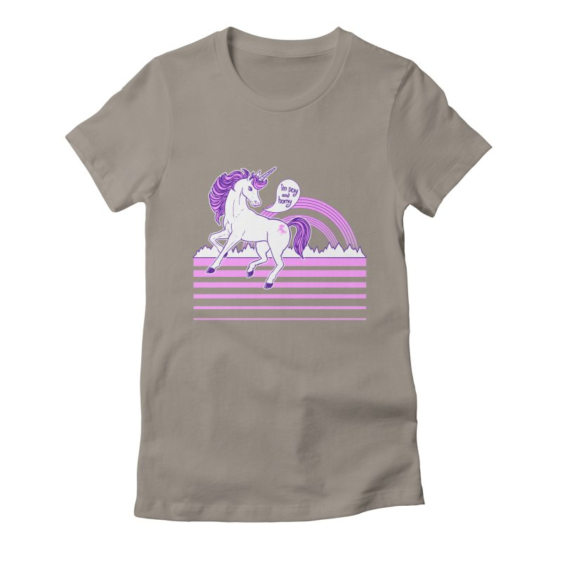 Sexy and Horny Women's Fitted T-Shirt by fireweatherstudio's Artist Shop