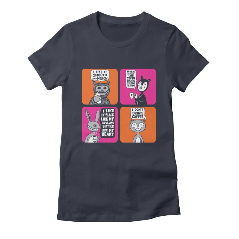 Coffee Likes Women's Fitted T-Shirt by fireweatherstudio's Artist Shop