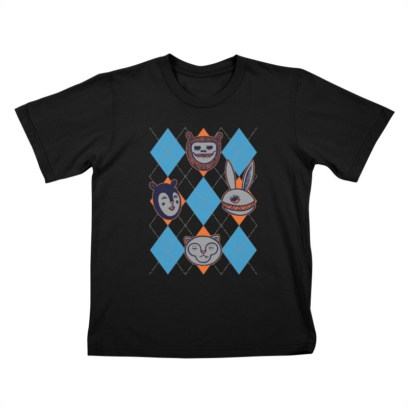 Argyle's Guys Kids T-Shirt by fireweatherstudio's Artist Shop