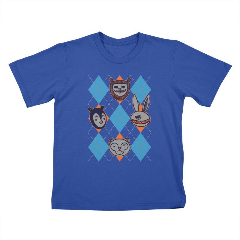 Argyle's Guys Kids T-Shirt by fireweatherstudio's Artist Shop