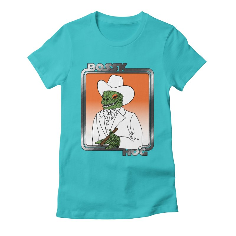 Bossk Hog Women's Fitted T-Shirt by fireweatherstudio's Artist Shop