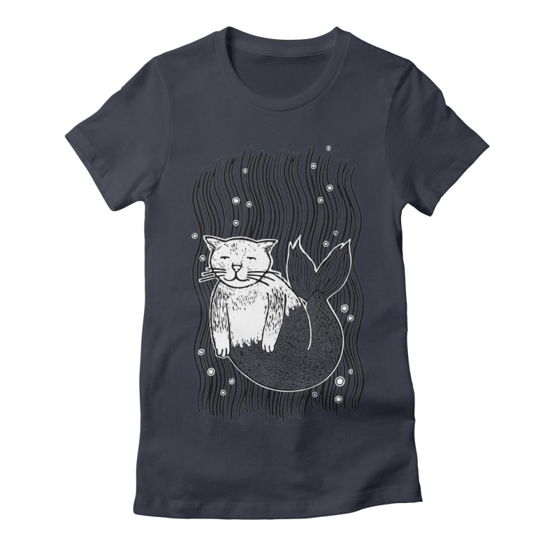 Mercat Women's Fitted T-Shirt by fireweatherstudio's Artist Shop