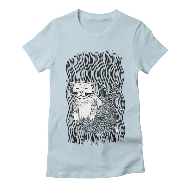 Mercat Women's Fitted T-Shirt by fireweatherstudio's Artist Shop