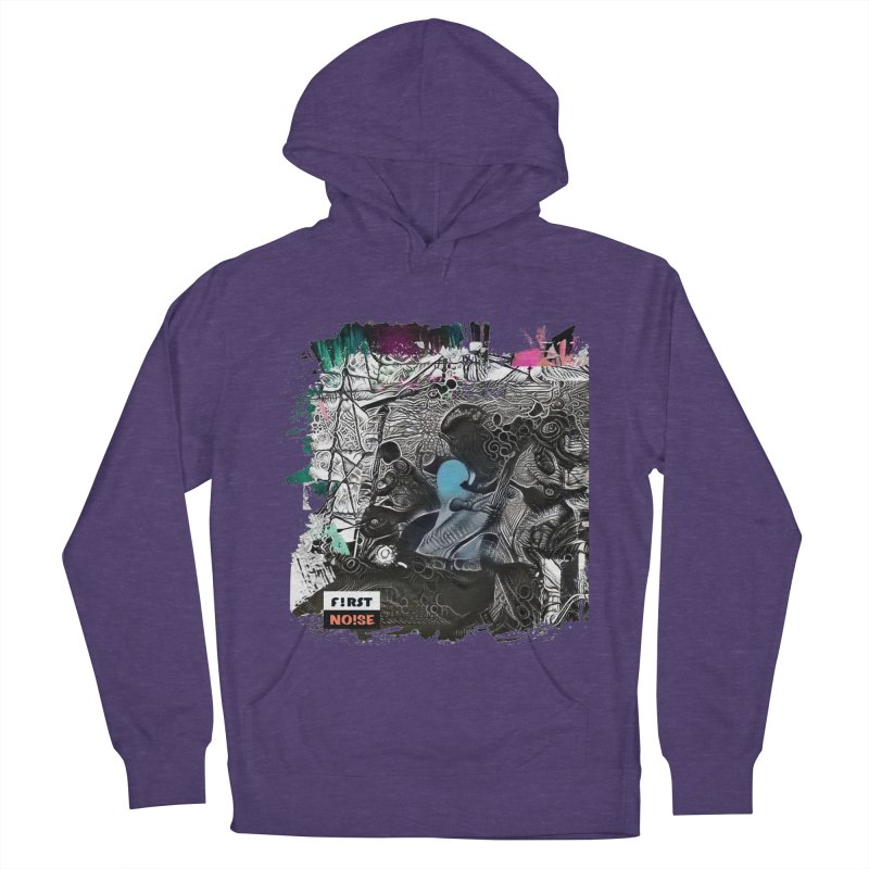 Vision on the hill dark delight in Men's French Terry Pullover Hoody Heather Purple by There Are Still Mysteries