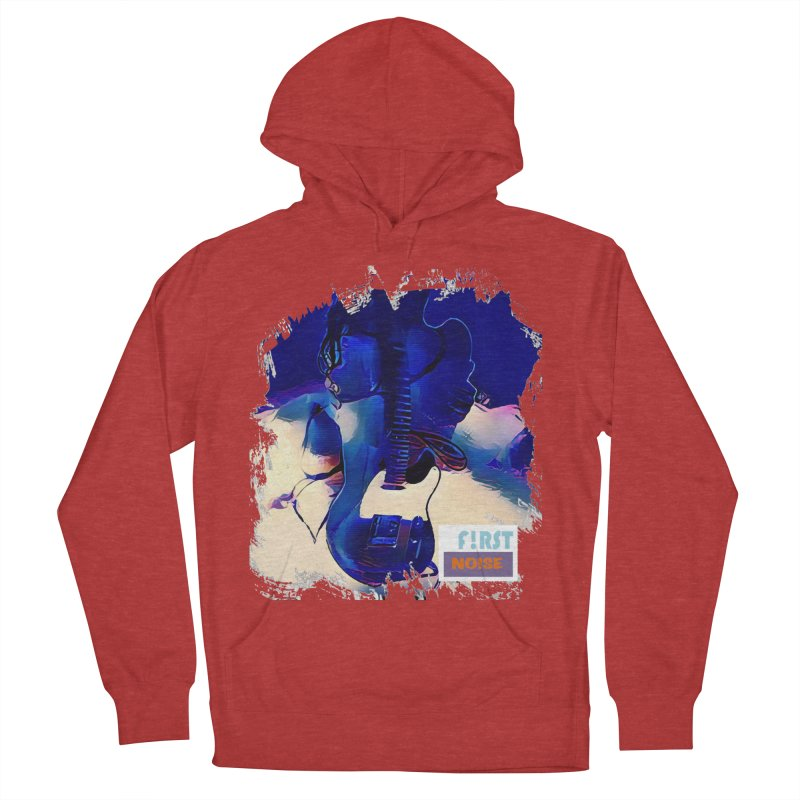 Blue Burn Back Track in Men's French Terry Pullover Hoody Heather Red by There Are Still Mysteries