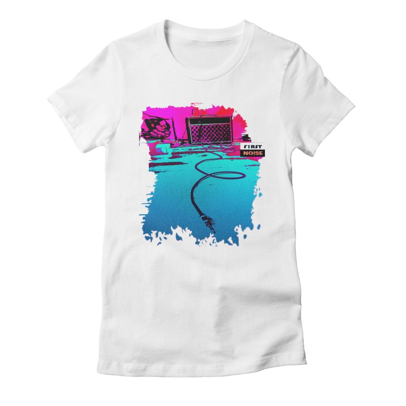 Lost Connection  in Women's Fitted T-Shirt White by There Are Still Mysteries