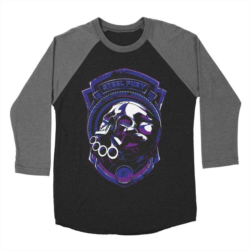Steel Fury Women's Baseball Triblend T-Shirt by fishark's Artist Shop