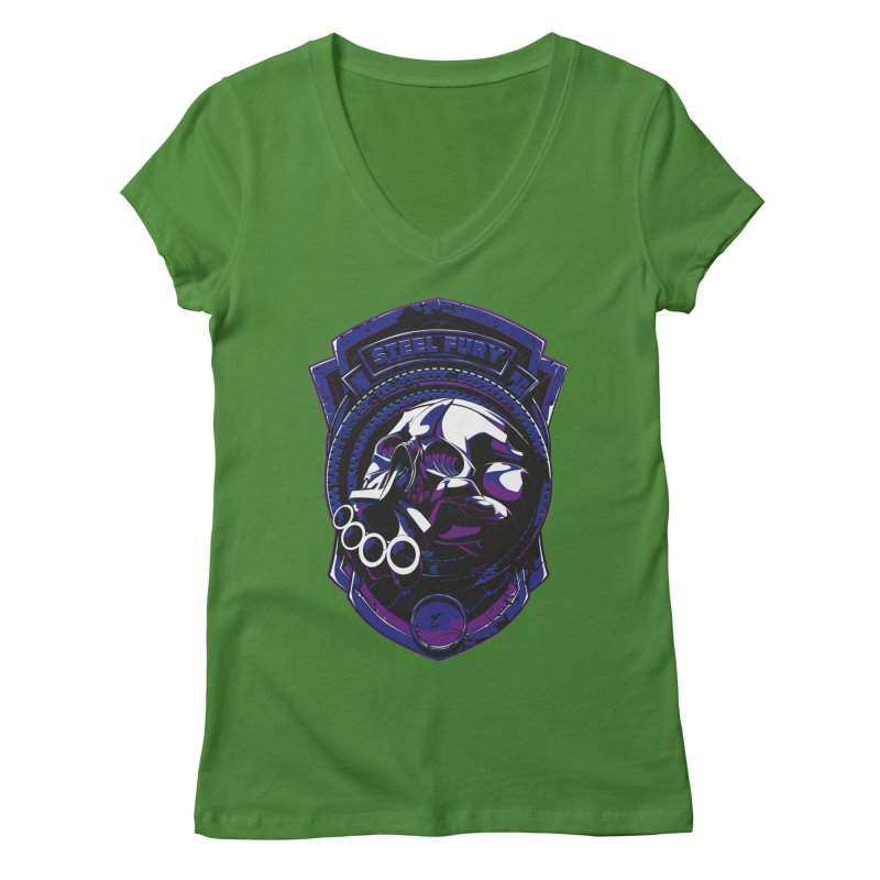 Steel Fury Women's V-Neck by fishark's Artist Shop