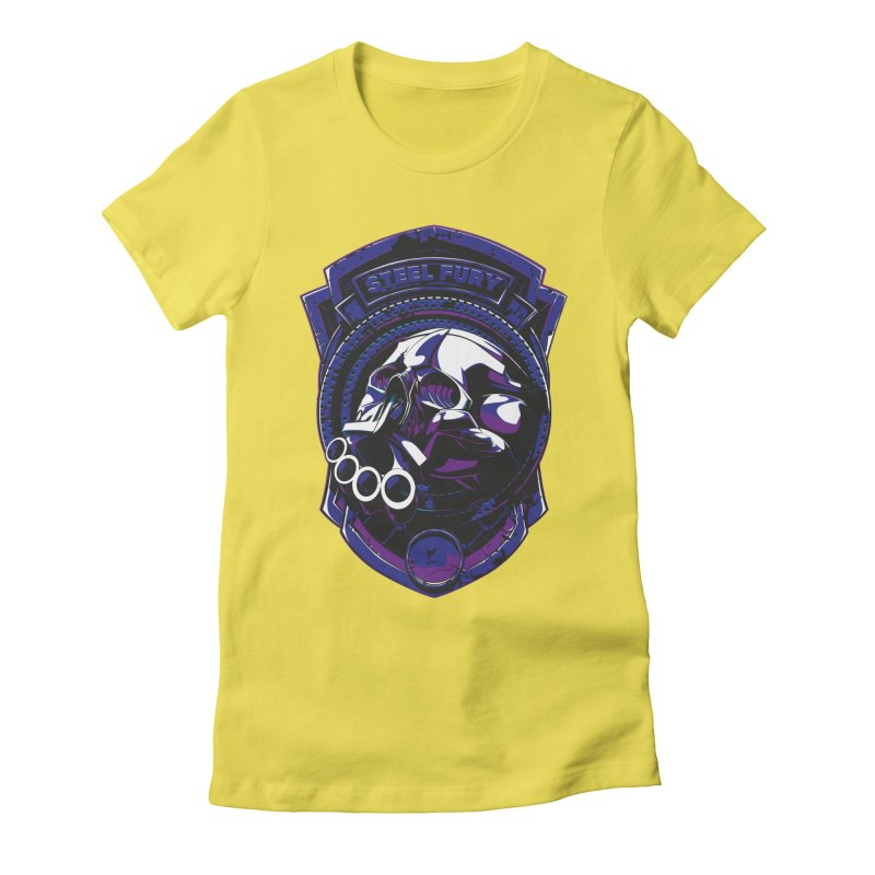 Steel Fury Women's Fitted T-Shirt by fishark's Artist Shop