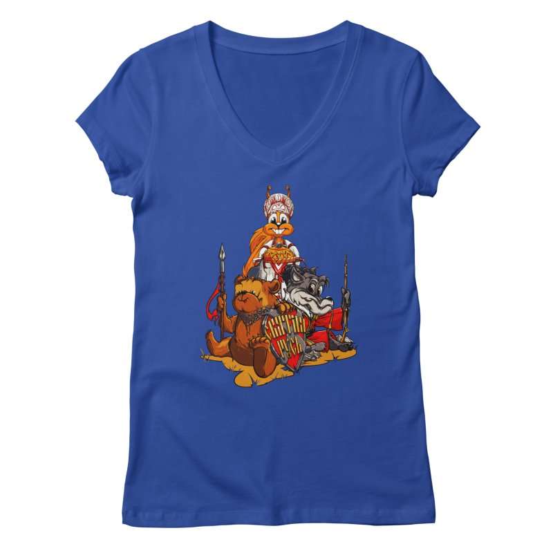 Trio from Russia Women's V-Neck by fishark's Artist Shop
