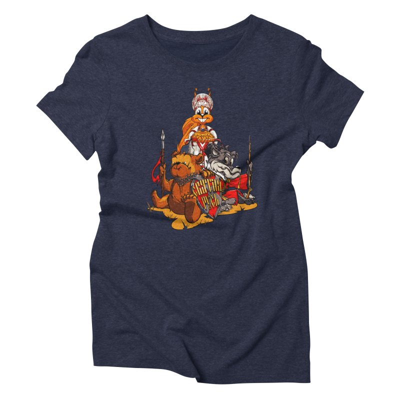 Trio from Russia Women's Triblend T-shirt by fishark's Artist Shop