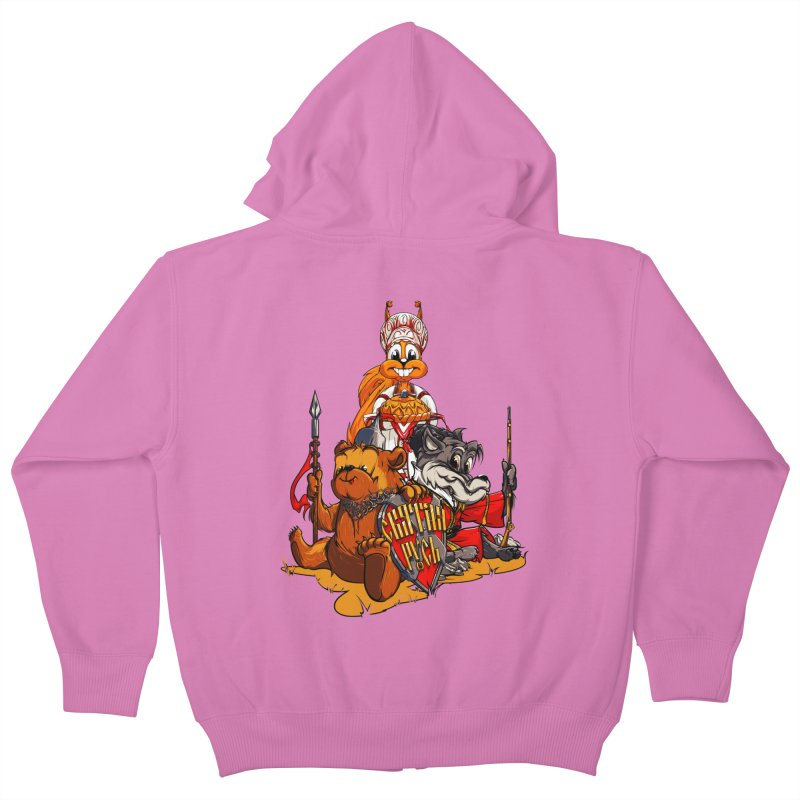 Trio from Russia Kids Zip-Up Hoody by fishark's Artist Shop