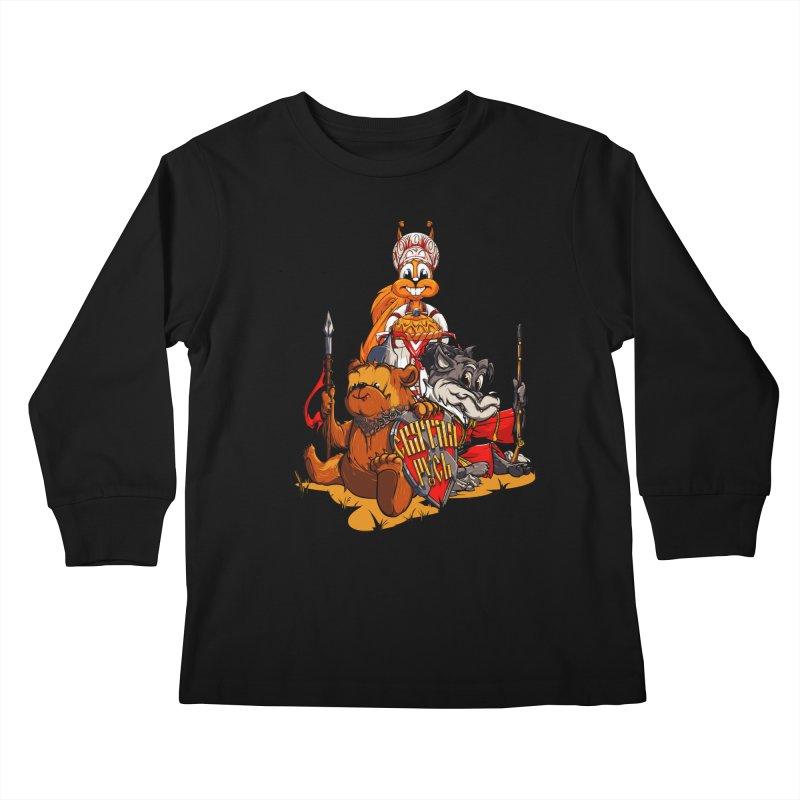 Trio from Russia Kids Longsleeve T-Shirt by fishark's Artist Shop