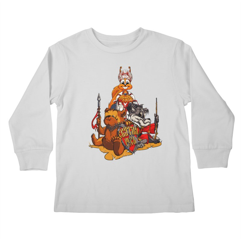Trio from Russia Kids Longsleeve T-Shirt by fishark's Artist Shop