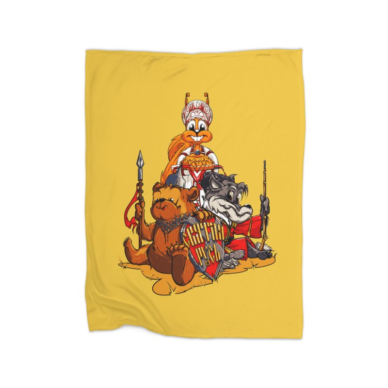 Trio from Russia Home Blanket by fishark's Artist Shop