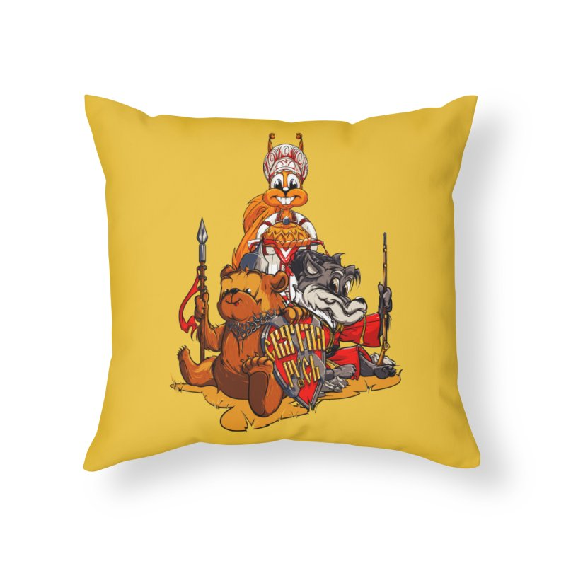 Trio from Russia Home Throw Pillow by fishark's Artist Shop