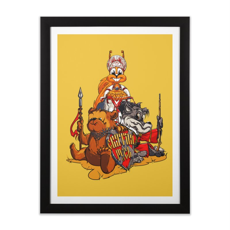 Trio from Russia Home Framed Fine Art Print by fishark's Artist Shop