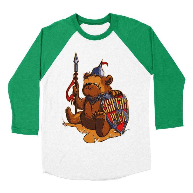 Bear from Russia Men's Baseball Triblend T-Shirt by fishark's Artist Shop