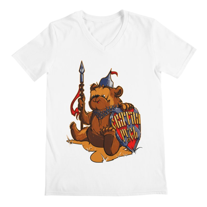 Bear from Russia Men's V-Neck by fishark's Artist Shop