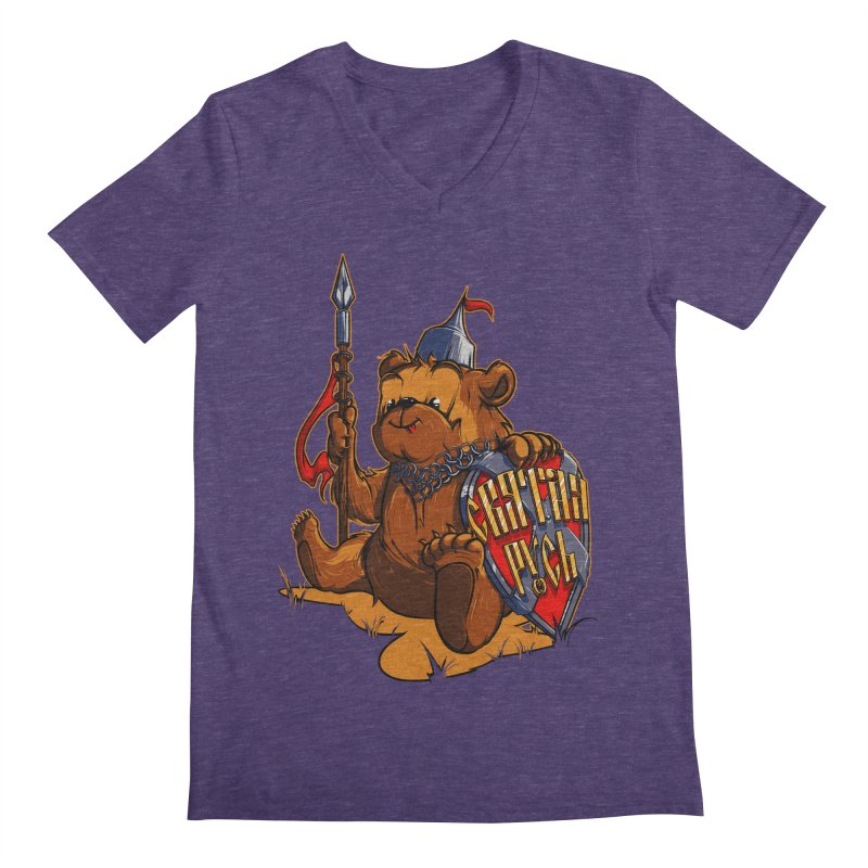 Bear from Russia Men's V-Neck by fishark's Artist Shop