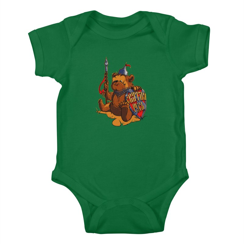 Bear from Russia Kids Baby Bodysuit by fishark's Artist Shop