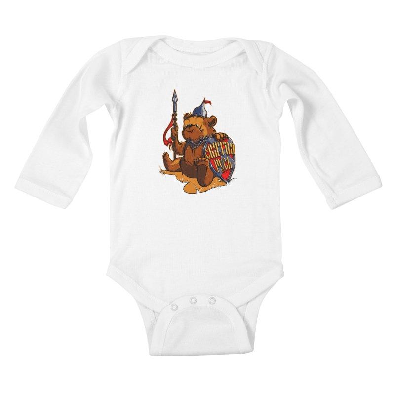 Bear from Russia Kids Baby Longsleeve Bodysuit by fishark's Artist Shop