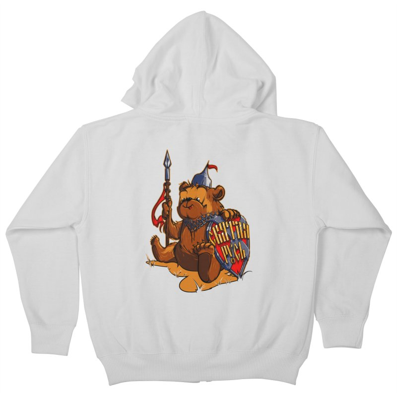 Bear from Russia Kids Zip-Up Hoody by fishark's Artist Shop