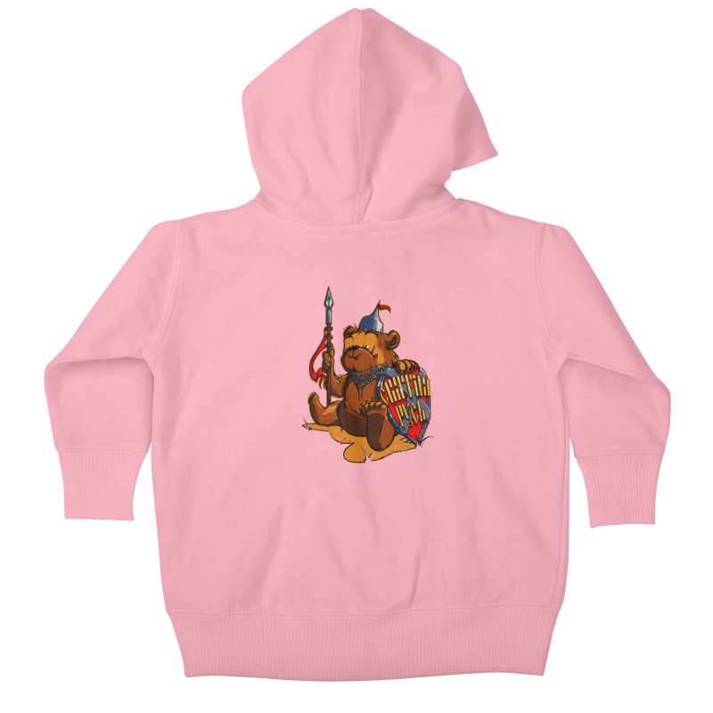 Bear from Russia Kids Baby Zip-Up Hoody by fishark's Artist Shop