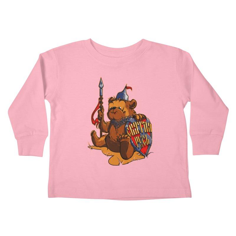 Bear from Russia Kids Toddler Longsleeve T-Shirt by fishark's Artist Shop