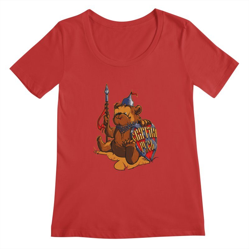 Bear from Russia Women's Scoopneck by fishark's Artist Shop