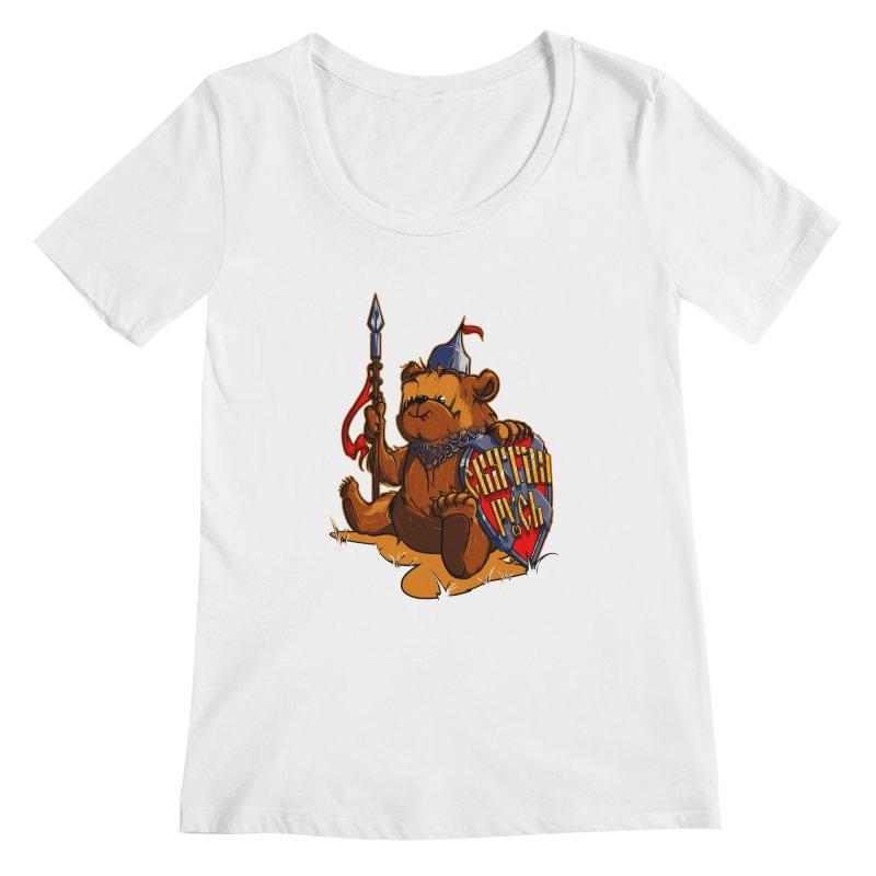 Bear from Russia Women's Scoopneck by fishark's Artist Shop