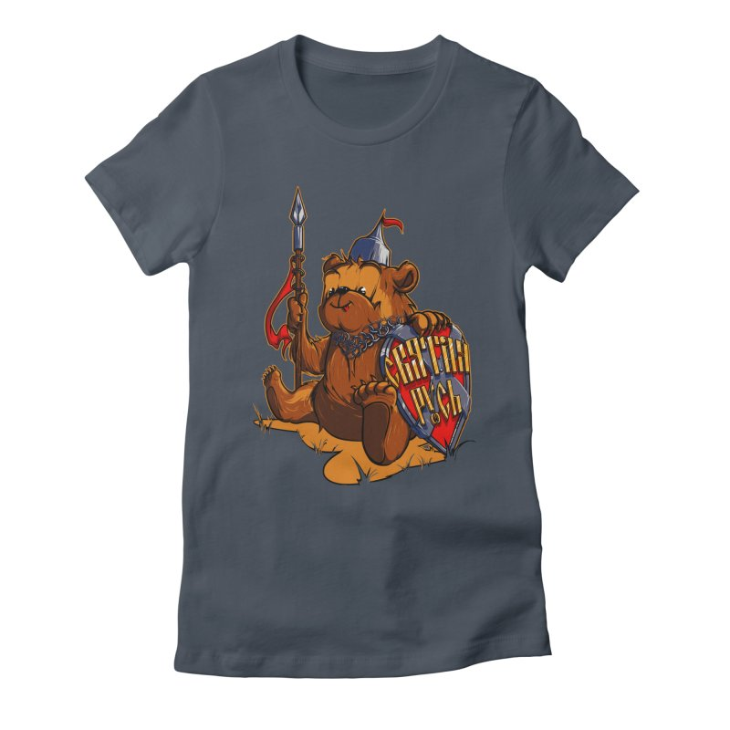Bear from Russia Women's Fitted T-Shirt by fishark's Artist Shop
