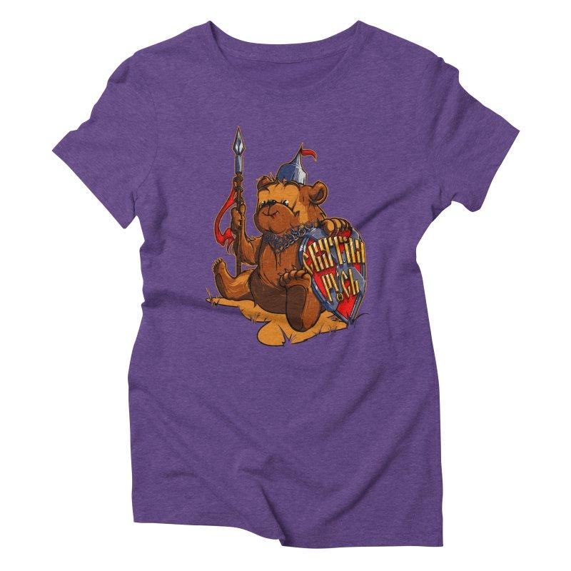 Bear from Russia Women's Triblend T-shirt by fishark's Artist Shop
