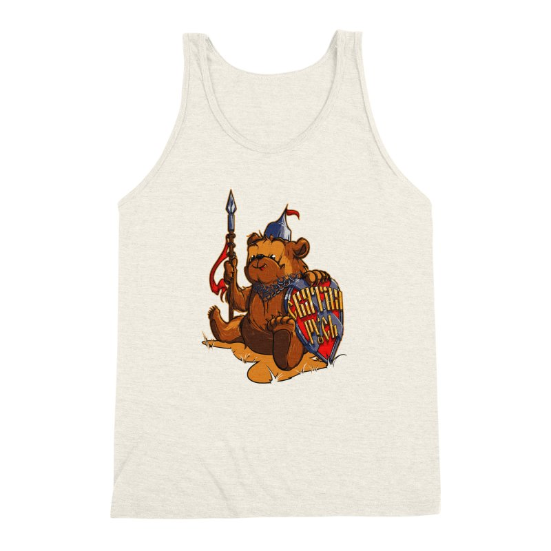 Bear from Russia Men's Triblend Tank by fishark's Artist Shop