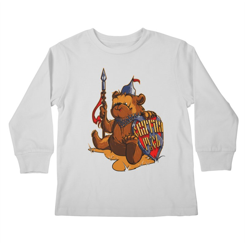 Bear from Russia Kids Longsleeve T-Shirt by fishark's Artist Shop